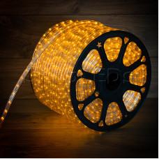 Дюралайт LED, постоянное свечение (2W) - желтый, бухта 100м, Neon-Night