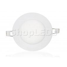 Светодиодная панель BRL-T-120-6W (белый круг, 6W, 120x14mm) (белый 6000K)